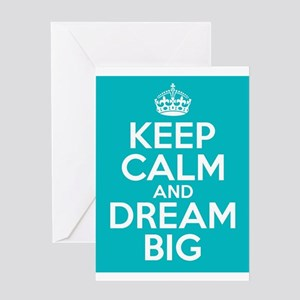 Keep Calm and Dream Big Quote vinta Greeting Cards