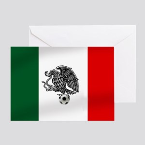 Mexican Soccer Flag Greeting Card