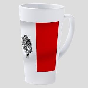 Mexican Soccer Flag 17 oz Latte Mug