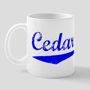 Vintage Cedar Falls (Blue) Mug
