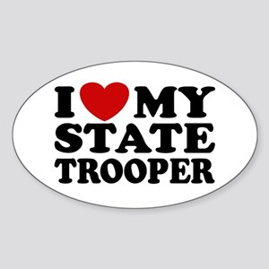 I Love My State Trooper Oval Sticker