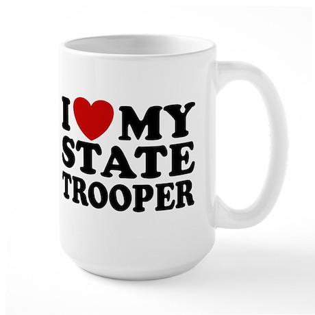 I Love My State Trooper Large Mug