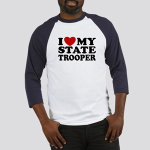 I Love My State Trooper Baseball Jersey