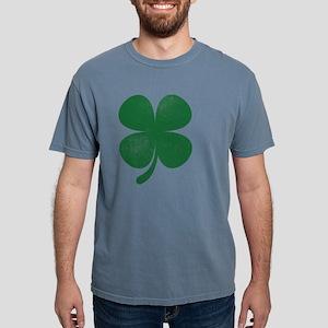 Distressed Green Four Leaf Clover Saint Pa T-Shirt