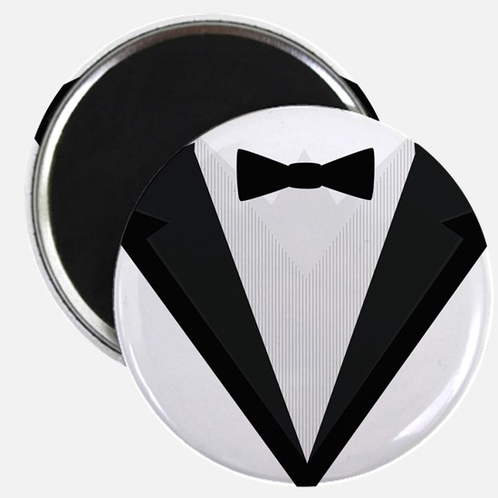 Black Tuxedo Suit with bow tie C946n Magnets