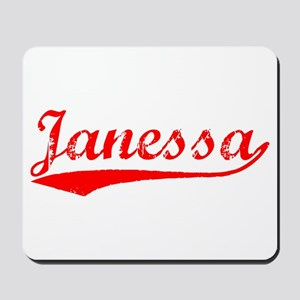 Vintage Janessa (Red) Mousepad