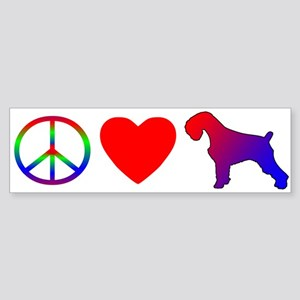 Peace Love Schnauzer Bumper Sticker