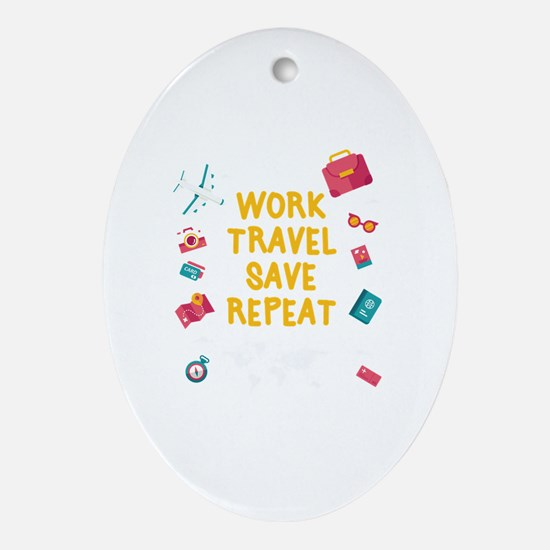 Cute Save Oval Ornament