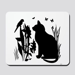 SPRING KITTY SILHOUETTE Mousepad