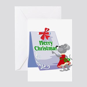 Miss Merry Christmas Mouse Greeting Card