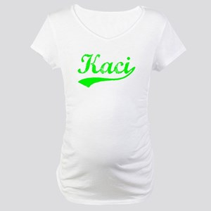 Vintage Kaci (Green) Maternity T-Shirt