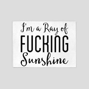 I'm a Ray of Fucking Sunshine 5'x7'Area Rug