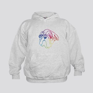 Rainbow, Bulldog Sweatshirt