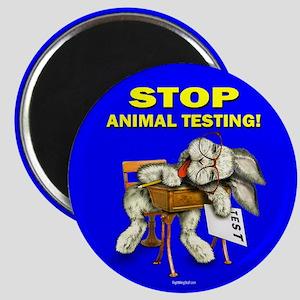 "Stop Animal Testing! 2.25"" Magnet (10 pack)"