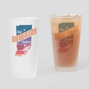 Visit Hawkins Indiana Drinking Glass