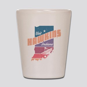 Visit Hawkins Indiana Shot Glass