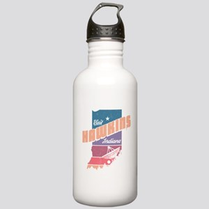 Visit Hawkins Indiana Water Bottle