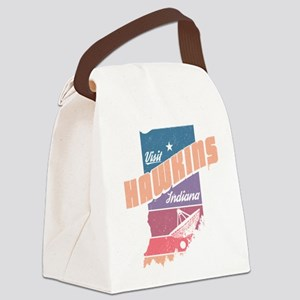 Visit Hawkins Indiana Canvas Lunch Bag