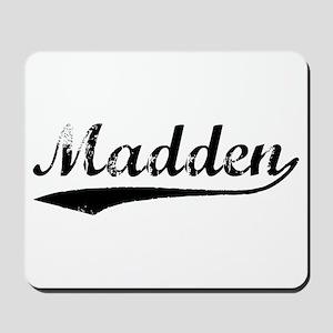 Vintage Madden (Black) Mousepad