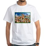 Golden Rainbow Bridge White T-Shirt