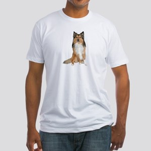 Collie Picture - Fitted T-Shirt