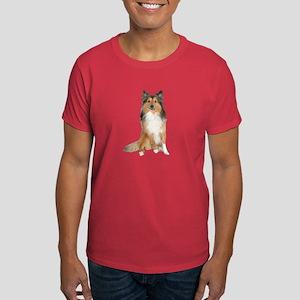 Collie Picture - Dark T-Shirt