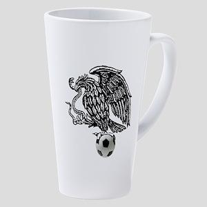 Mexican Football Eagle 17 oz Latte Mug