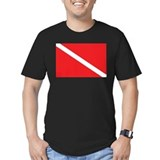Dive flag Fitted Dark T-Shirts