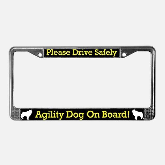Schipperke Agility Dog License Plate Frame