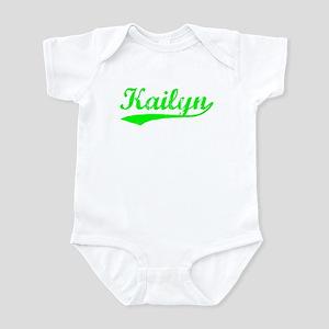 Vintage Kailyn (Green) Infant Bodysuit