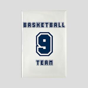 Basketball Team 9 Rectangle Magnet