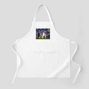 Starry Night English Bulldog BBQ Apron