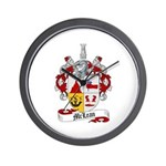 McLean Family Crest Wall Clock