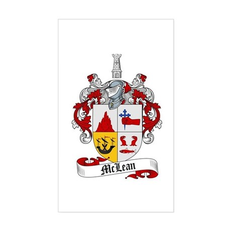 McLean Family Crest Rectangle Sticker