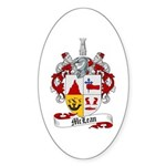 McLean Family Crest Oval Sticker