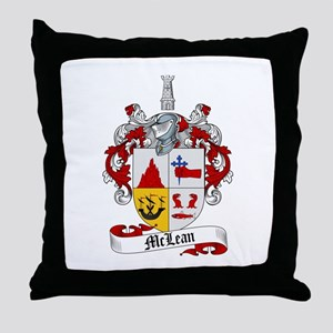 McLean Family Crest Throw Pillow