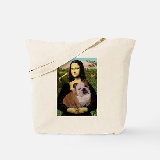 Mona Lisa & English Bulldog Tote Bag