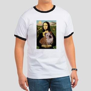 Mona Lisa & English Bulldog Ringer T