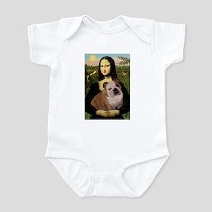 Mona Lisa & English Bulldog Infant Bodysuit