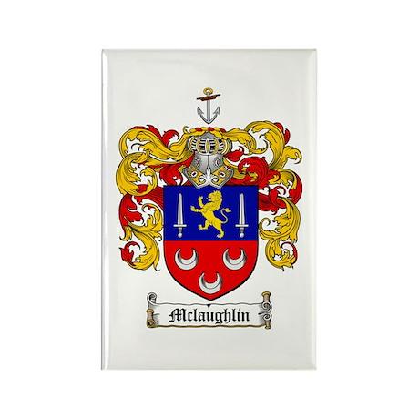 McLaughlin Family Crest Rectangle Magnet (10 pack)