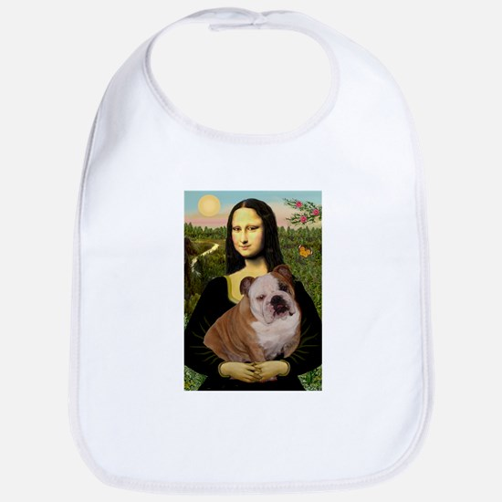 Mona Lisa & English Bulldog Bib