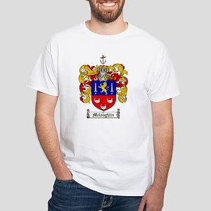 McLaughlin Family Crest White T-Shirt