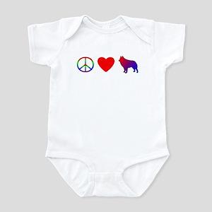 Peace Love Schipperke Baby Bodysuit