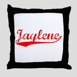 Vintage Jaylene (Red) Throw Pillow
