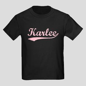 Vintage Karlee (Pink) Kids Dark T-Shirt