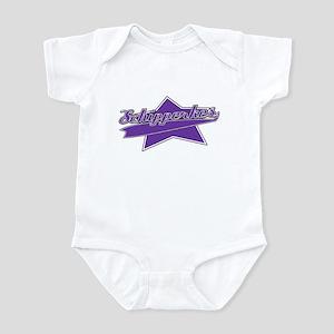 Baseball Schipperke Baby Bodysuit