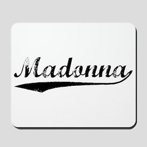 Vintage Madonna (Black) Mousepad