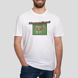 Como Se Llama? Fitted T-Shirt