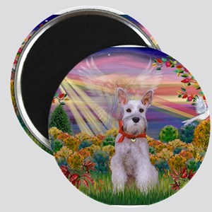 Autumn Angel Schnauzer Magnets