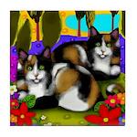 CALICO CATS LAKE Tile Coaster